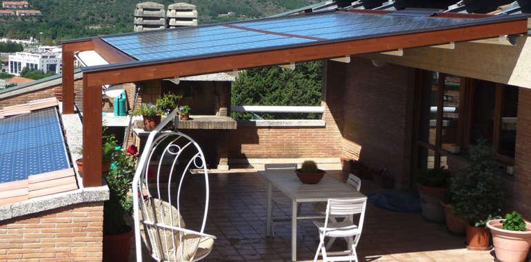 Struttura esterna in legno per terrazzi