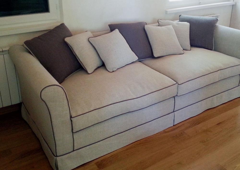 rivestimento in stoffa per divano