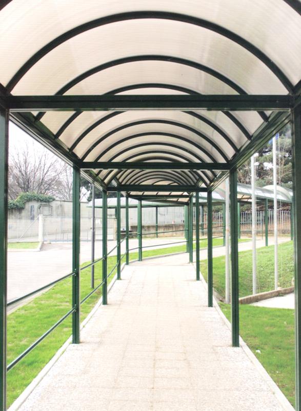 gazebo e strutture di coperture per luoghi pubblici