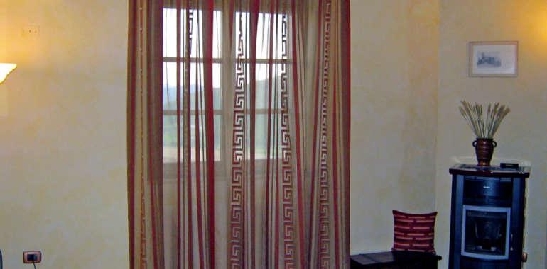 Tende da interno design per case rustiche